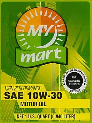 MyMart10W-30-LabelFront
