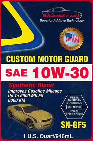 questron counterfeit CUSTOM MOTOR GUARD SYNTHETIC BLEND