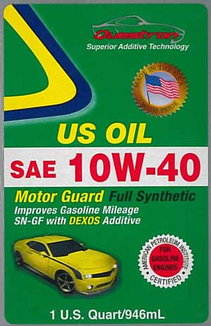 questron counterfeit US OIL MOTOR GUARD FULL SYNTHETIC
