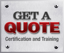 get a quote certification logo