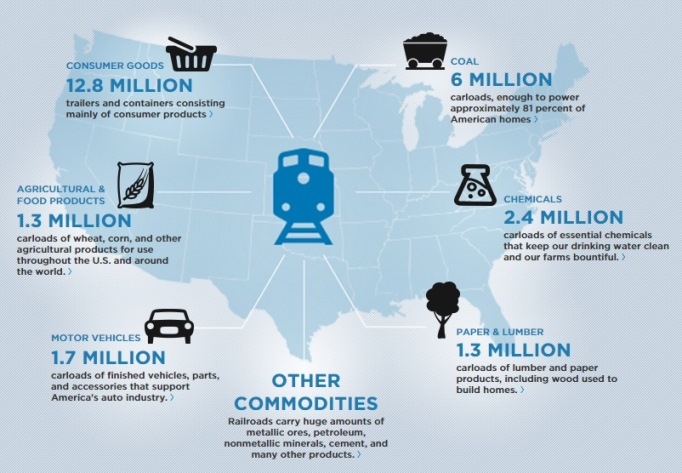 AAR Stuff Freight Rail Carries Infographic