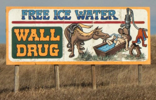 Wall Drug Free Ice WaterSign