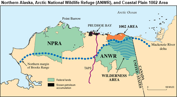 Access to Alaska's ANWR for natural gas and oil production could increase U.S. energy security